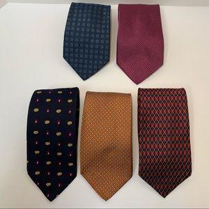 Brooks Brothers pure silk neck ties bundle of 5